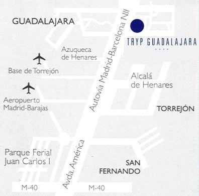 Plano de acceso de Hotel Tryp Guadalajara