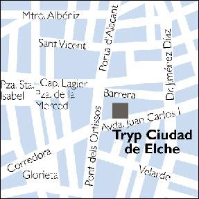 Plano de acceso de Hotel Ciudad De Elche Tryp
