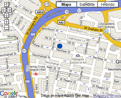 Plano de acceso de Hotel Rennie Mackintosh - Renfrew St