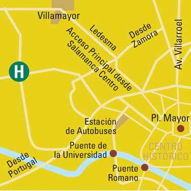 Plano de acceso de Hotel Salamanca Forum Resort