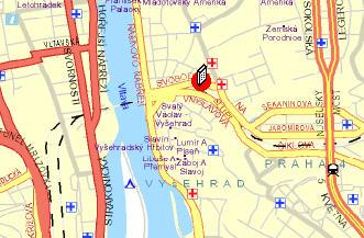 Plano de acceso de Park Inn  Hotel Prague
