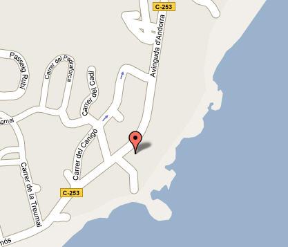 Plano de acceso de Hotel Cap Roig