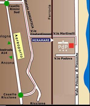 Plano de acceso de Hotel Principe Di Piemonte