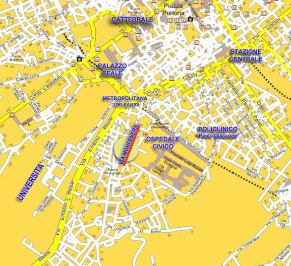 Plano de acceso de Hotel Orleans