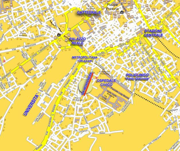 Plano de acceso de Hotel Casa Marconi