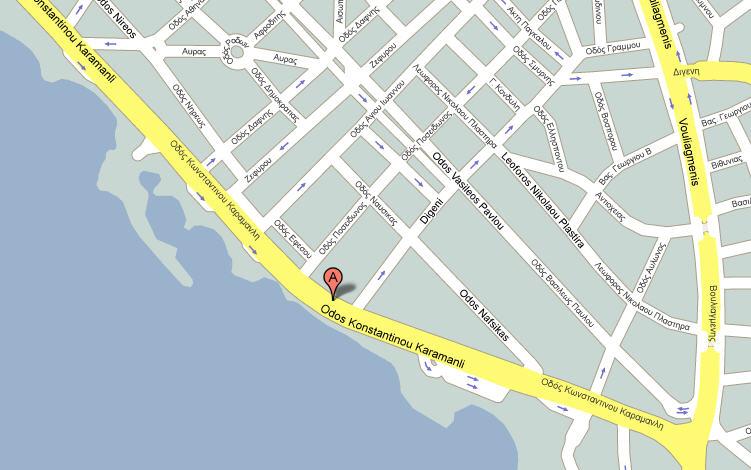 Plano de acceso de Hotel Galini Palace