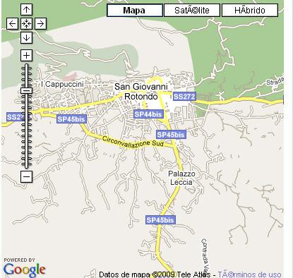 Plano de acceso de Hotel Villa Fontana