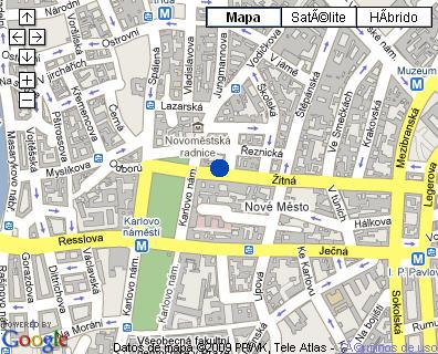Plano de acceso de Sheraton Prague Charles Square Hotel