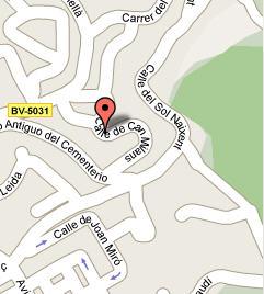 Plano de acceso de Hotel Castell De L ¿ Olivers