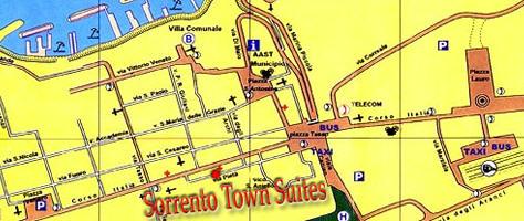 Plano de acceso de Hotel Bb Sorrento Town Suites