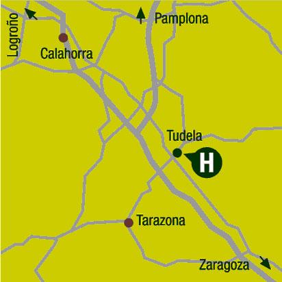 Plano de acceso de Hotel Tudela Bardenas