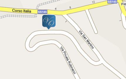 Plano de acceso de Hotel Bb Villa Oriana Relais
