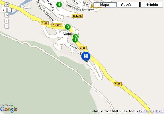 Plano de acceso de Hotel Ac Baqueira