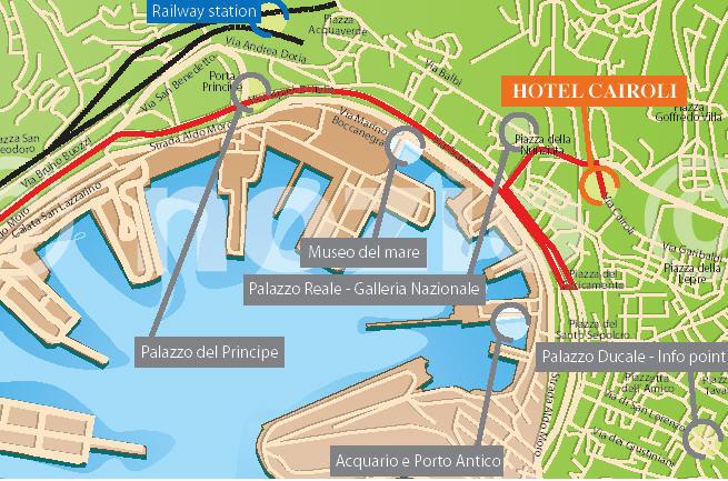 Plano de acceso de Hotel Cairoli