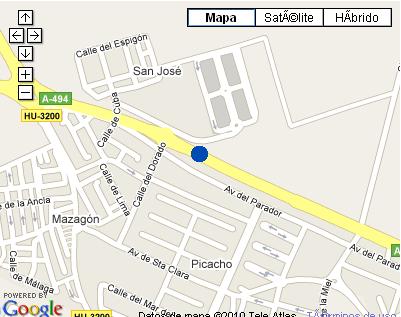 Plano de acceso de Hotel Albaida