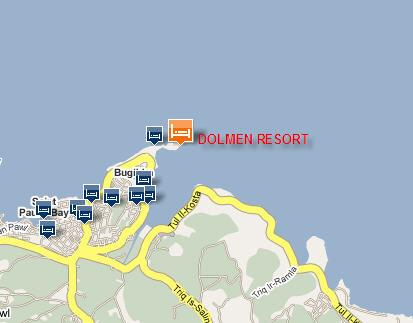Plano de acceso de Hotel Dolmen Resort