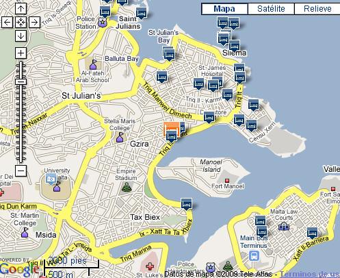 Plano de acceso de 115 The Strand Aparthotel