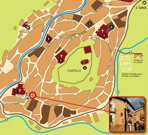 Plano de acceso de Hotel Posada La Pastora