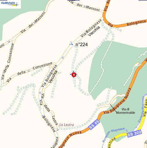 Plano de acceso de Hotel Villa Le Rondini