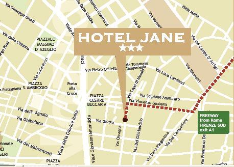 Plano de acceso de Hotel Jane