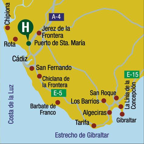 Plano de acceso de Hotel Duques De Medinaceli