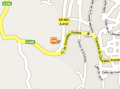 Plano de acceso de Hotel Puerta Nazari