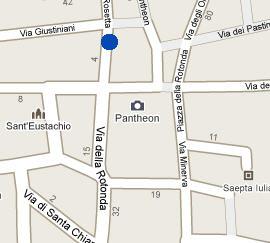 Plano de acceso de Hotel Pantheon Royal Suite