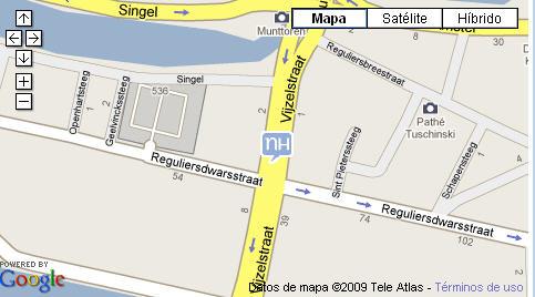 Plano de acceso de Hotel Nh Carlton