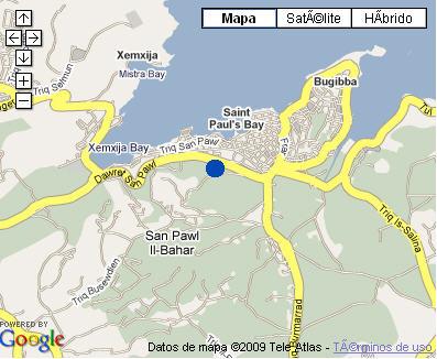 Plano de acceso de Hotel St Pauls Bay