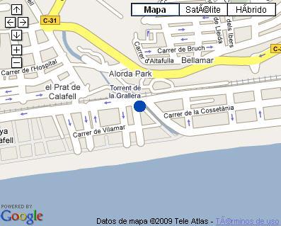 Plano de acceso de Hotel Ramblas Miramar