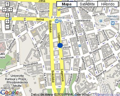 Plano de acceso de Hotel Prague Centre Superior