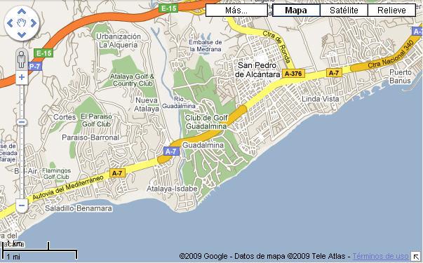 Plano de acceso de Hotel Barcelo Marbella