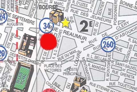 Plano de acceso de Timhotel Palais Royal