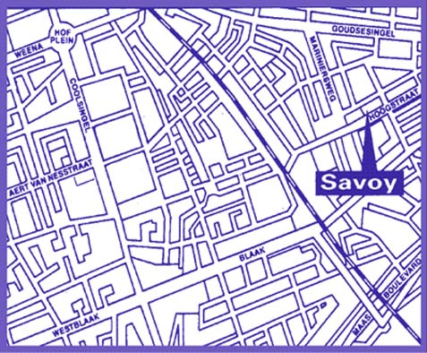 Plano de acceso de Hotel Eden Savoy