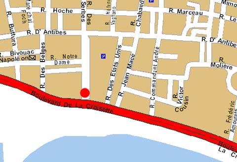 Plano de acceso de Hotel Gray D'albion