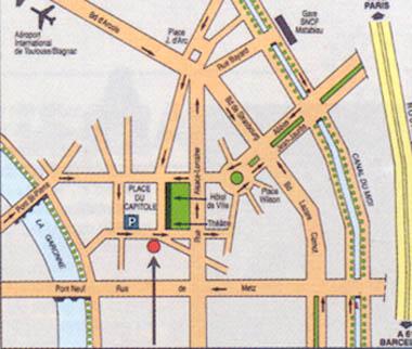Plano de acceso de Grand Hotel De L'opera
