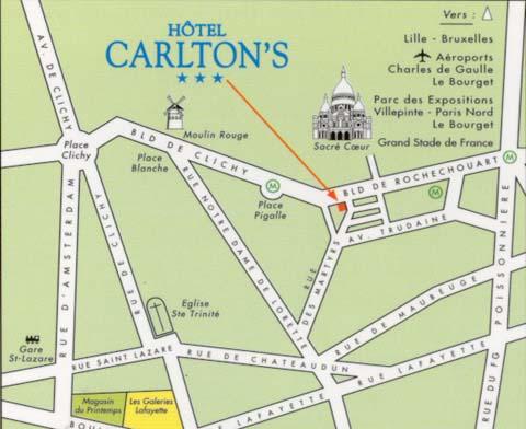 Plano de acceso de Hotel Carlton´S