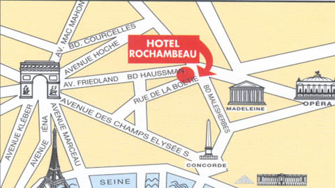 Plano de acceso de Hotel Rochambeau Copatel