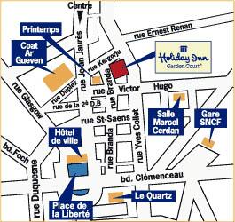 Plano de acceso de Hotel L'amiraute