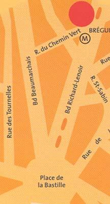Plano de acceso de Hotel Citadines Bastille Marais