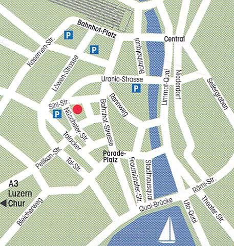 Plano de acceso de Hotel Best Western Premier Glockenhof