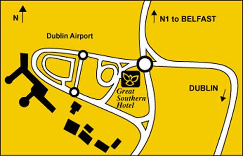 Plano de acceso de Hotel Radisson Blu Dublin Airport