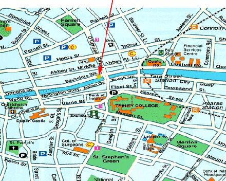 Plano de acceso de Hotel Arlington