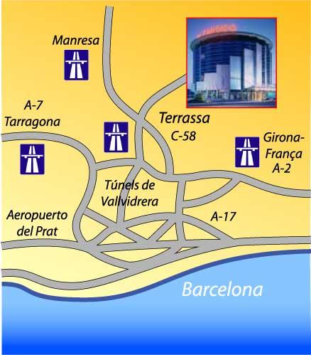 Plano de acceso de Hotel Don Candido