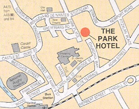 Plano de acceso de Hotel Parc
