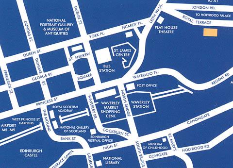 Plano de acceso de Hotel Royal Terrace