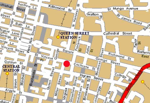 Plano de acceso de Hotel Millennium Glasgow