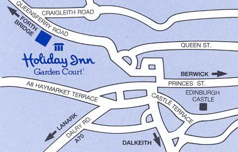 Plano de acceso de Hotel Holiday Inn Edinburgh City West