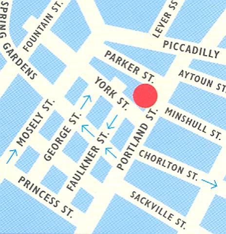 Plano de acceso de Hotel Mercure Manchester Piccadilly (I)