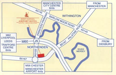 Plano de acceso de Hotel Britannia Airport